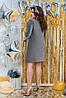 Блискаюче вільне плаття з рукавами три чверті, фото 3