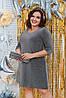 Блискаюче вільне плаття з рукавами три чверті, фото 2