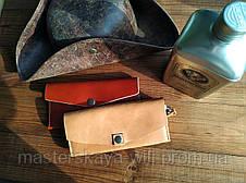 """Женский кожаный клатч-кошелек """"XXI век"""" (ручная работа, итальянская натуральная кожа), фото 3"""