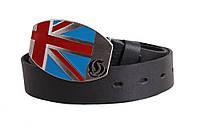 Кожаный ремень с бляхой Британский флаг
