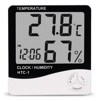 Метеостанция, Часы, Гигрометр, Влагометр Generic HTC-2 (два уровня) Метеостанция, Часы, Гигрометр, Влагометр G