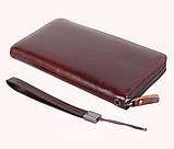 Винтажный клатч из кожи COFFEE001-4 Бордовый, фото 3