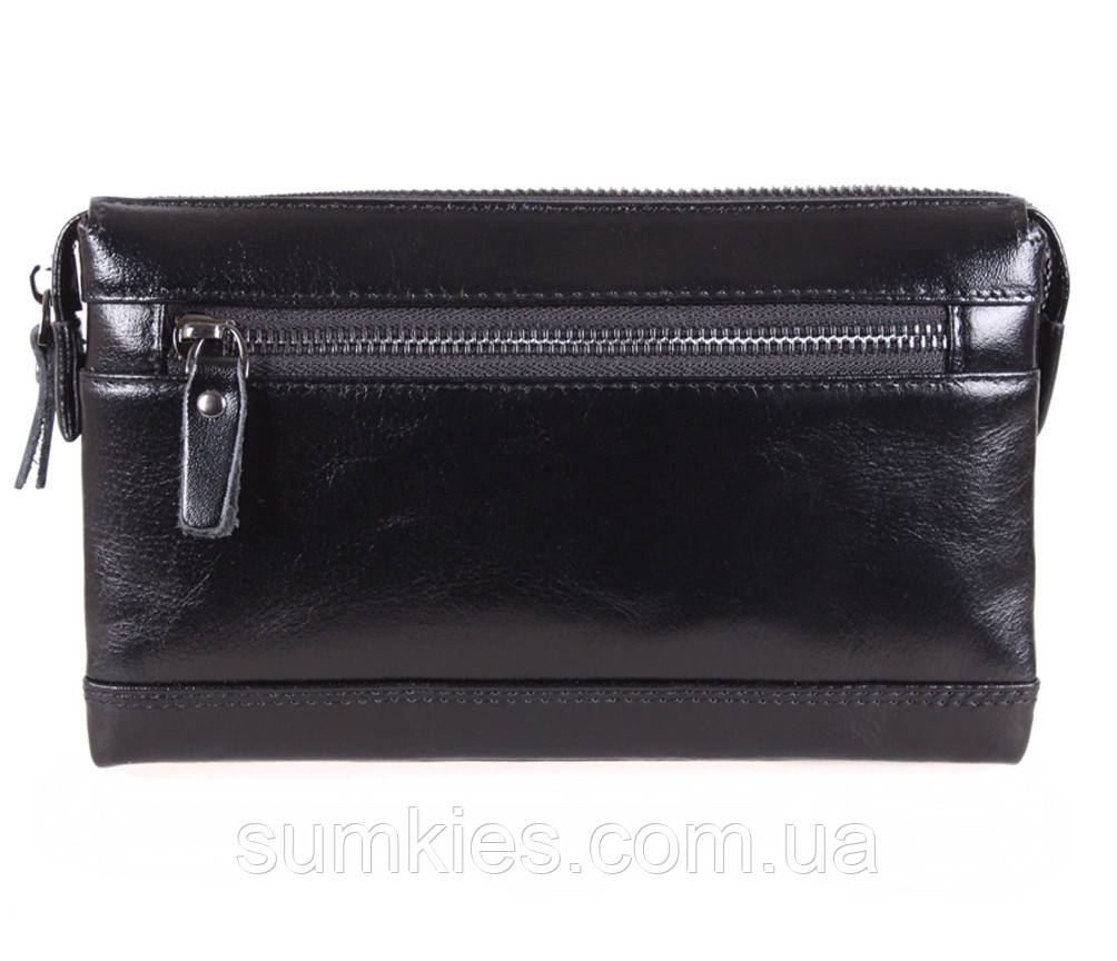Стильный мужской клатч черного цвета BLACK005-2 Черный