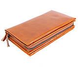 Необычный кожаный клатч для мужчин WHEAT005-5 Рыжий, фото 3