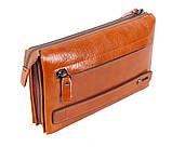Необычный кожаный клатч для мужчин WHEAT005-5 Рыжий, фото 4