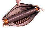 Необычный кожаный клатч для мужчин WHEAT005-5 Рыжий, фото 5