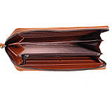 Кожаный клатч рыжего цвета WHEAT002-5 Рыжий, фото 5