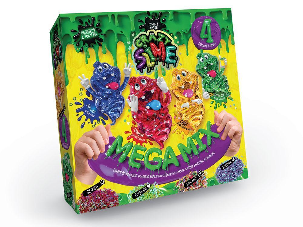 Набор для изготовления лизуна Crazy Slime Mega Mix 4 в 1 Данко-Тойс