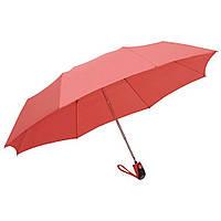 Зонт складной, полуавтомат, резиновая ручка, оранжевый, от 10 шт.