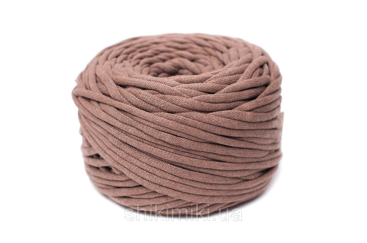 Трикотажный шнур Cotton Filled 8 mm, цвет Корица