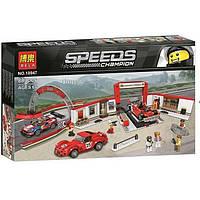 Конструктор BELA 10947 Speed Champions -  Гараж Ferrari (883 дет.), фото 1