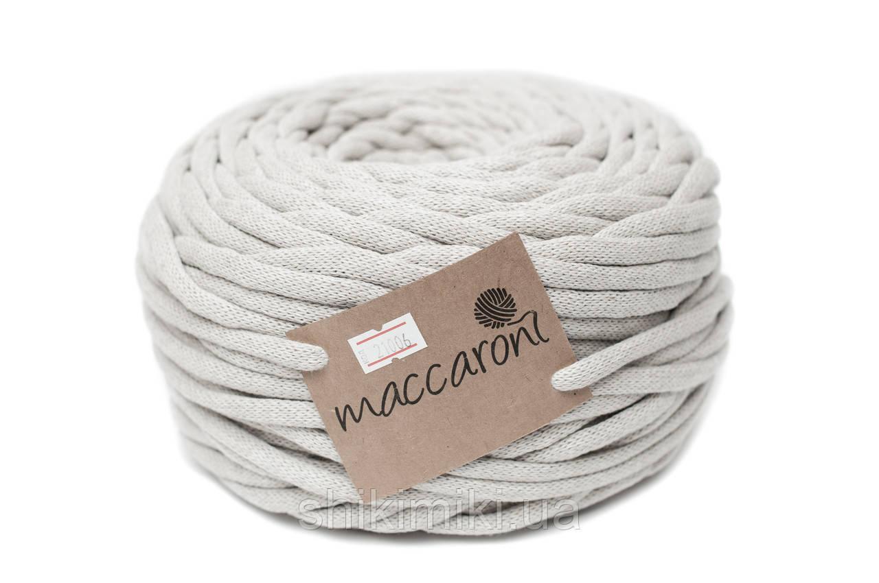 Трикотажный шнур Cotton Filled 8 mm, цвет Лен
