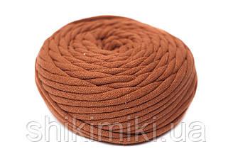 Трикотажный шнур Cotton Filled 8 mm, цвет Терракот
