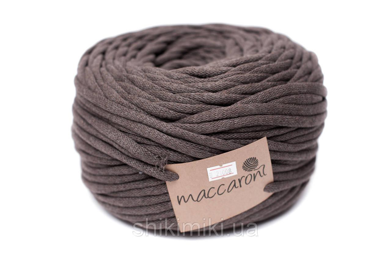 Трикотажный шнур Cotton Filled 8 mm, цвет Светло коричневый