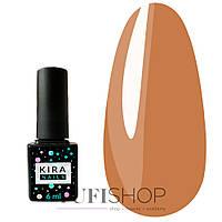 Гель-лак Kira Nails №071 - бежево-коричневый с золотым микроблеском, 6 мл