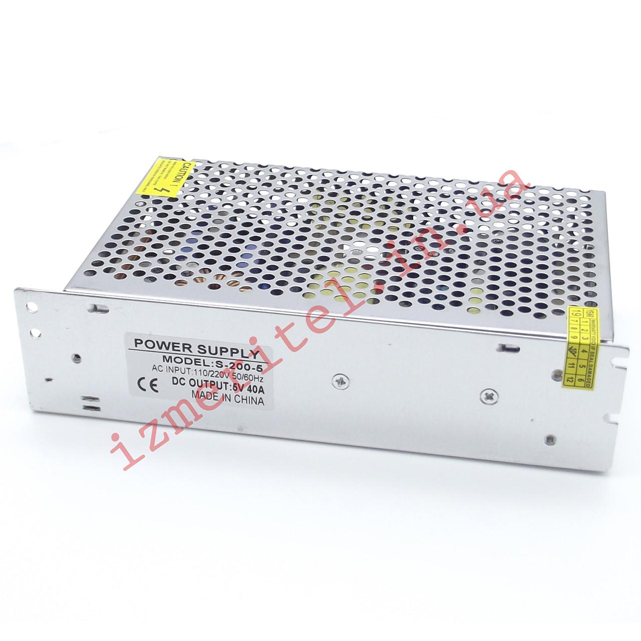 Импульсный блок питания 5В 40А 200Вт