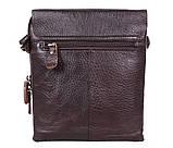 Качественная мужская сумка коричневого цвета, фото 4