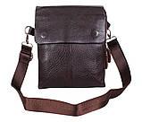 Качественная мужская сумка коричневого цвета, фото 5