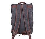 Рюкзак темного цвета 8154-1BLACK Черный, фото 3