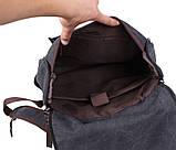 Рюкзак темного цвета 8154-1BLACK Черный, фото 7