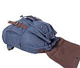 Добротный рюкзак из прочного материала 8634-3BLUE Синий, фото 4