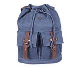 Добротный рюкзак из прочного материала 8634-3BLUE Синий, фото 6