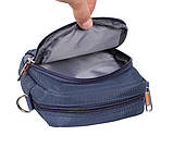 Стильная сумка синего цвета Nobol S6339-1BU Синяя, фото 6