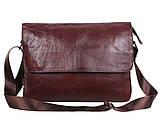 Мужская кожаная сумка Dovhani A4-980 Коричневая, фото 2