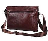 Мужская кожаная сумка Dovhani A4-980 Коричневая, фото 3