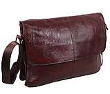 Мужская кожаная сумка Dovhani A4-980 Коричневая, фото 4