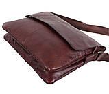 Мужская кожаная сумка Dovhani A4-980 Коричневая, фото 5