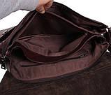 Мужская кожаная сумка Dovhani A4-980 Коричневая, фото 7