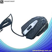 Клавиатура V-100 + мышка - игровой комплект проводная клавиатура + мышь с подсветкой молния (s90), фото 2