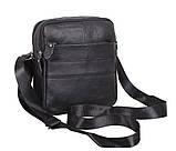Мужская кожаная сумка Dovhani Dov-3921 Черная, фото 2