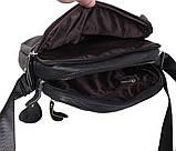 Мужская кожаная сумка Dovhani Dov-3921 Черная, фото 7