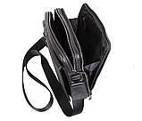 Мужская кожаная сумка Dovhani DL5156-33 Черная, фото 8