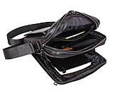 Мужская кожаная сумка Dovhani DL5156-33 Черная, фото 10