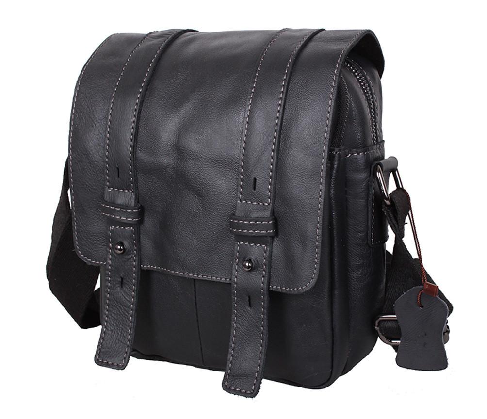 Мужская кожаная сумка Dovhani PRE1540 Черная