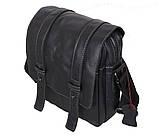 Мужская кожаная сумка Dovhani PRE1540 Черная, фото 2