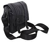 Мужская кожаная сумка Dovhani PRE1540 Черная, фото 4