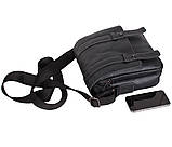 Мужская кожаная сумка Dovhani PRE1540 Черная, фото 7