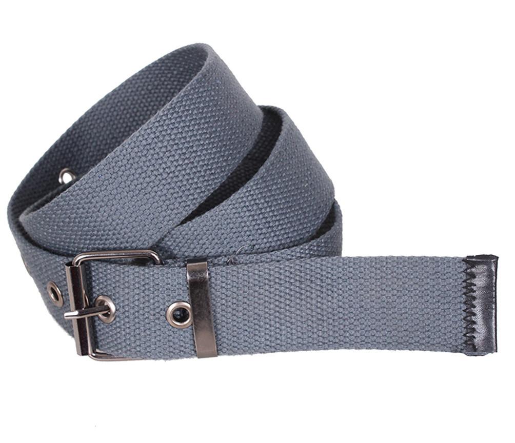 Серый текстильный ремень YK0037-2704