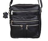 Мужская кожаная сумка Dovhani 60-29BLACK Черная, фото 4