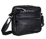 Мужская кожаная сумка Dovhani  SW275 Черная, фото 2