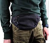 Сумка текстильная на пояс Dovhani Y319-10Black Черная, фото 2