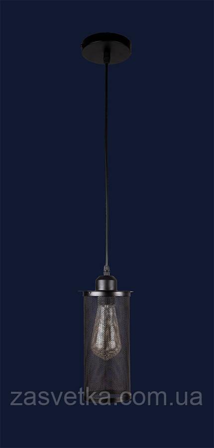 Люстра подвес лофт 907012F-1 BK белый,черный