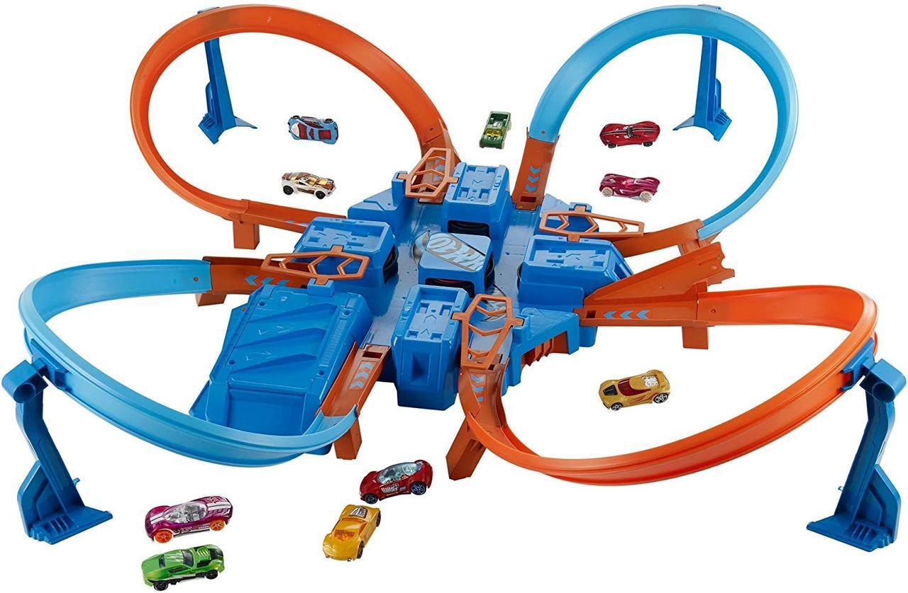 Игровой трек Хот Вилс опасный перекресток Hot Wheels Criss Cross Crash Track
