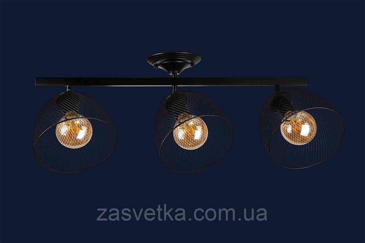 Светильник лофт 907X013F-3 BK