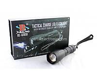 Фонарик ручной BL Q1891-T6 police, режимов 5, металл, черный, карманный фонарь, мини - фонарик