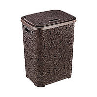 Корзина для белья Ажур темно-коричневая Elif plastik 322-5LF
